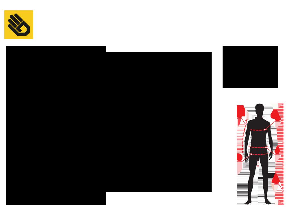 37443a65cde Orientační velikostní tabulka SENSOR. SENSOR CYKLO BASIC pánské kalhoty  krátké černá