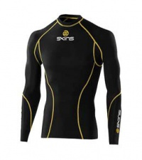 Skins bio Sport pánské kompresní triko dlouhý rukáv černá