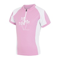 SENSOR CYKLO ENTRY dětský dres kr.ruk. růžová/bílá -150