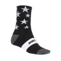 SENSOR PONOŽKY STARS černá/bílá