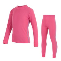 SENSOR ORIGINAL ACTIVE dětský set triko dl.rukáv + spodky růžová -130