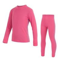 SENSOR ORIGINAL ACTIVE dětský set triko dl.rukáv + spodky růžová -140