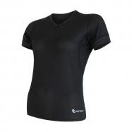 SENSOR COOLMAX AIR dámské triko kr.rukáv V-neck černá