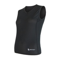 SENSOR COOLMAX AIR dámské triko bez rukávu černá -S