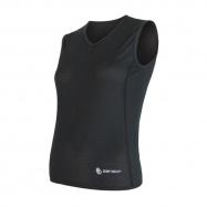 SENSOR COOLMAX AIR dámské triko bez rukávu V-neck černá