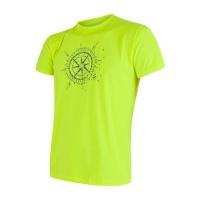 SENSOR COOLMAX FRESH PT COMPASS pánské triko kr.rukáv reflex žlutá -XL