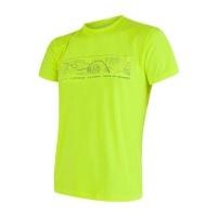 SENSOR COOLMAX FRESH PT GPS pánské triko kr.rukáv reflex žlutá -S
