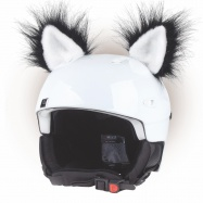 Crazy Uši ozdoba na helmu - Kočka černá