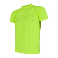 SENSOR COOLMAX FRESH PT TRACK pánské triko kr.rukáv reflex žlutá -S