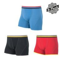 SENSOR MERINO ACTIVE pánské trenky 3-pack černá/červená/modrá - XL