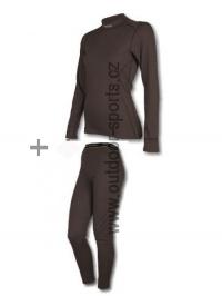 Akční set SENSOR Double Face dámský dlouhý rukáv + nohavice černá - XS