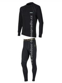Akční set SENSOR Double Face dlouhý rukáv + nohavice černá - XL