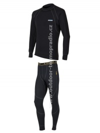 Akční set SENSOR Double Face dlouhý rukáv + nohavice černá - XXXL