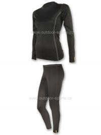 Akční set SENSOR MERINO WOOL ACTIVE dámský dlouhý rukáv + nohavice černá - L