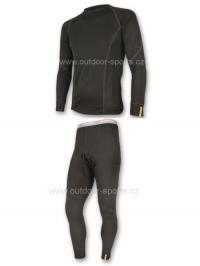 Akční set SENSOR MERINO WOOL ACTIVE pánský dlouhý rukáv + nohavice černá - S