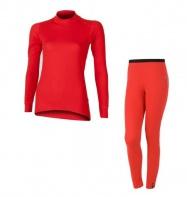 Akční set SENSOR Double Face dámský dlouhý rukáv + nohavice červená - XL