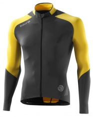 SKINS C400 Men`s yellow/grey LS Jersey