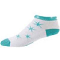 ponožky P.I.Elite LE Low W bílé tyrkysové hvězdy