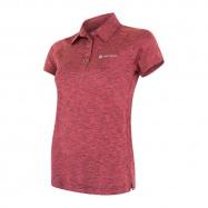 SENSOR MOTION dámské triko polo kr.rukáv růžová
