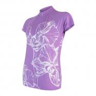 SENSOR CYKLO FLOWERS dámský dres kr.rukáv fialová