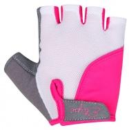 Etape - dětské rukavice TOBI, bílá/růžová
