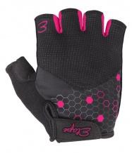 Etape - dámské rukavice BETTY, černá/růžová