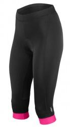Etape - dámské kalhoty NATTY 3/4 s vložkou, černá/růžová