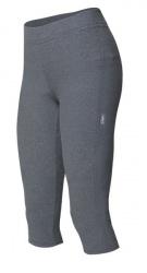 Etape - dámské kalhoty LADY 3/4 s vložkou, šedá melír