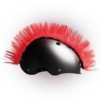 Crazy Uši ozdoba na helmu - Číro Wiggystyle Mohawk Red