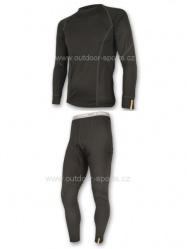 Akční set SENSOR MERINO WOOL ACTIVE pánský dlouhý rukáv + nohavice černá