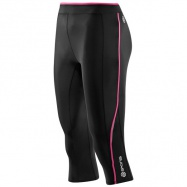 SKINS A200 Womens Black/Pink 3/4 Tights