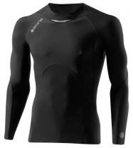 SKINS A400 Mens Black/Charcoal Top Long Sleeve
