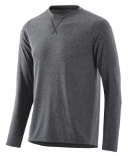 SKINS Activewear Avatar Mens Top L/S Round Neck Black/Marle