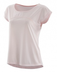 SKINS Activewear Code Cap Womens S/S Top Champagne/Marl