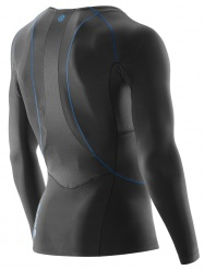 SKINS RY400 Mens Top Long Sleeve Graphite/Blue