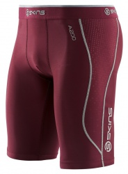 SKINS A200 Mens Maroon 1/2 Tights