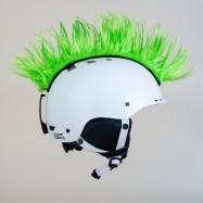 Crazy Uši ozdoba na helmu - Číro Wiggystyle Mohawk Spike Green