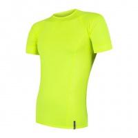 SENSOR COOLMAX TECH pánské triko kr.rukáv reflex žlutá -S