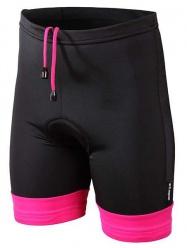 Etape - dětské kalhoty Junior s vložkou, černá/růžová