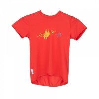 SENSOR PT COOLMAX FRESH Birds dětské triko kr.rukáv červená -150
