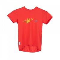 SENSOR PT COOLMAX FRESH Birds dětské triko kr.rukáv červená