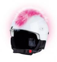 Crazy Uši ozdoba na helmu - Číro růžovo-bílé
