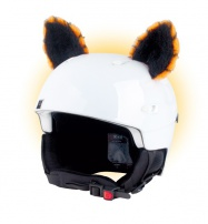 Crazy Uši ozdoba na helmu - KOČKA oranžová