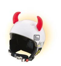 Crazy Uši ozdoba na helmu - ROHY červené