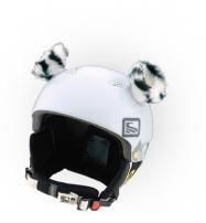 Crazy Uši ozdoba na helmu - TYGŘÍK bílý
