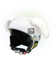 Crazy Uši ozdoba na helmu - KRÁLÍK bílý