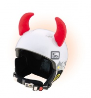 Crazy Uši ozdoba na helmu - ROHY červené velké