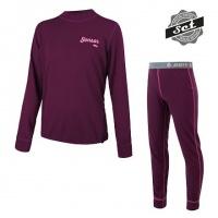 SENSOR DOUBLE FACE SET LOGO juniorský triko dl.rukáv + spodky fialová -160