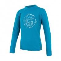 SENSOR MERINO DF CLUB dětské triko dl.rukáv modrá -130