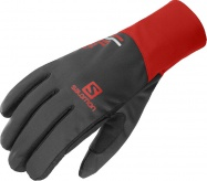 rukavice Salomon Equipe U black/goji berry L 20/21